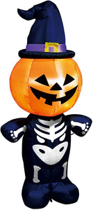 Large Pumpkin Skeleton Inflatable (6 ft)