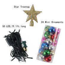 "Load image into Gallery viewer, 20"" Tabletop Christmas Tree & Decoration Kit"