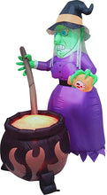 Load image into Gallery viewer, Large Witch with Cauldron Inflatable (6 ft)