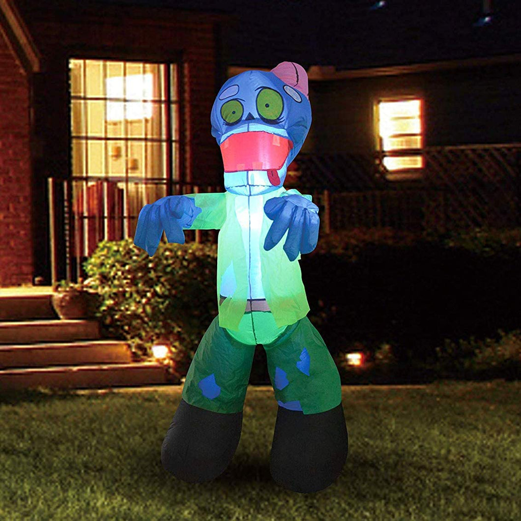 Tall Zombie with Build-in LEDs Blow Up Inflatables (5 Ft)