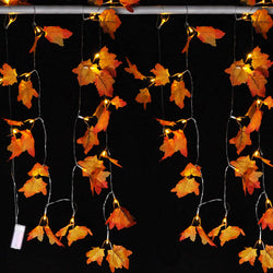 Jumbo Maple Leaves String Lights (3 Pack)