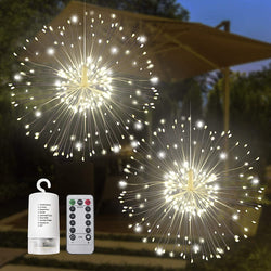 2 Pack 120 LED Hanging Fairy Lights (Warm White)