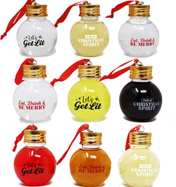 9 Pcs Boozeball Christmas Ornaments