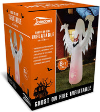 Load image into Gallery viewer, Jumbo Ghost on Fire Inflatable (8 ft)