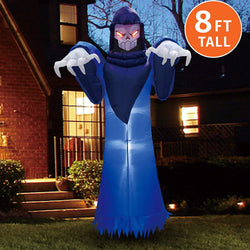 Jumbo Spooky Warlock Inflatable (8 ft)