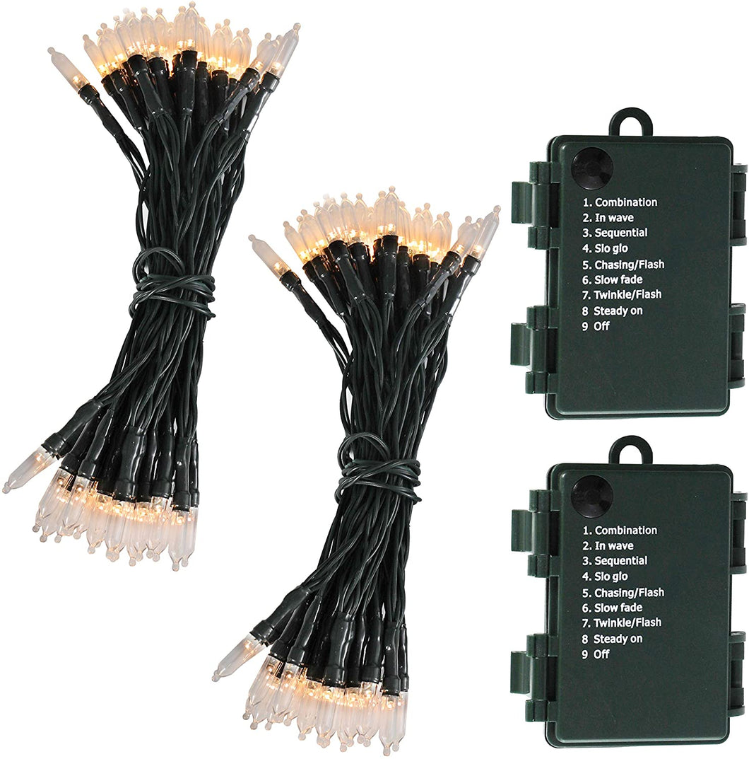 Battery Operated String Lights with 50 LED Lights(2 Pack)