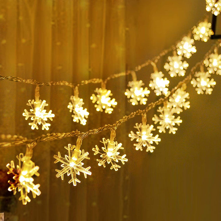 16ft 40 LED Snowflake Fairy Lights, Warm White