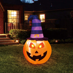 Tall Pumpkin Witch Inflatable (5 ft)