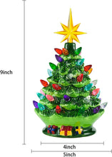 "Load image into Gallery viewer, 9.5"" Prelit Tabletop Christmas Tree"
