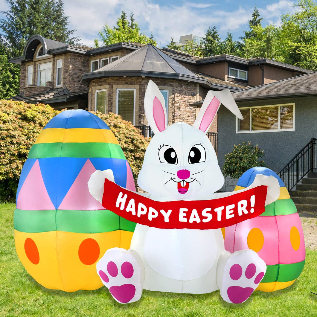 Large Easter Bunny with Eggs (6 ft)