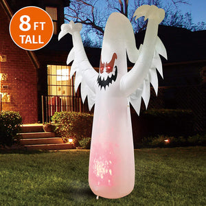 Jumbo Ghost on Fire Inflatable (8 ft)