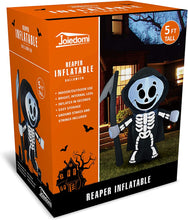 Load image into Gallery viewer, Tall Haunted Reaper Inflatable (5 ft)