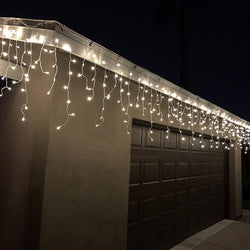 224 LED Icicle Lights, Warm White