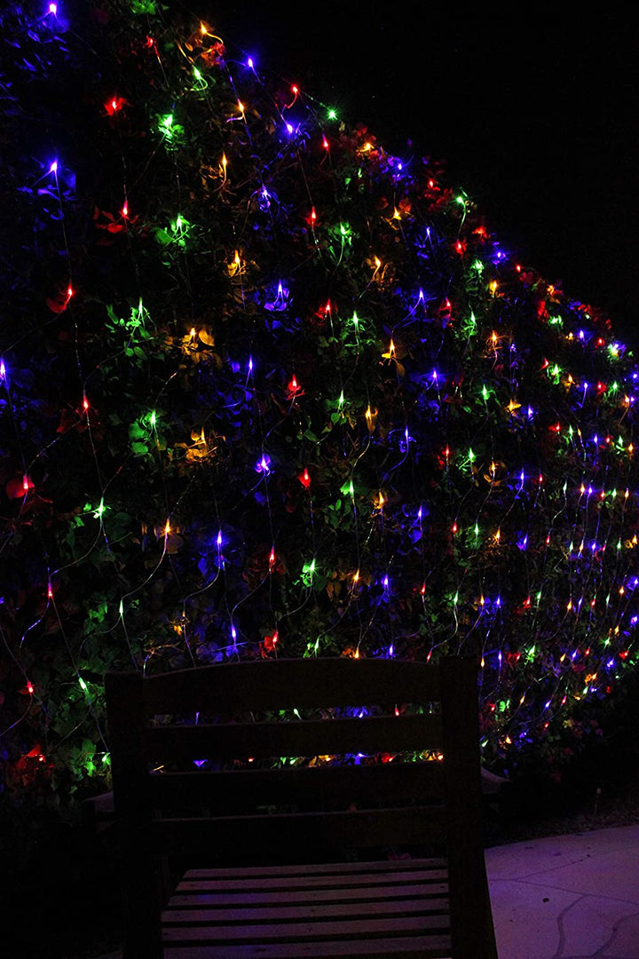 200 LED Christmas Net Lights, Multicolor