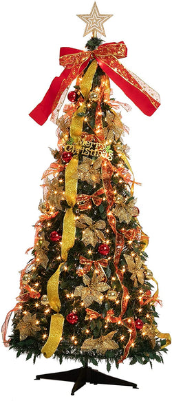 6Ft Pull-Up Christmas Tree with Accessories