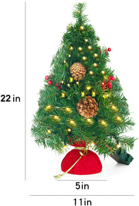 "23"" Prelit Tabletop Christmas Tree with Color Changing LED Lights"