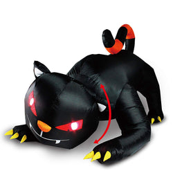 Halloween Animated Red Eye Witch's Cat Inflatable (6 ft)