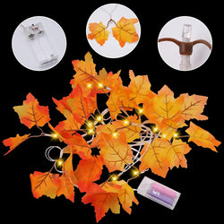Jumbo Maple Leaves String Lights (2 Pack)