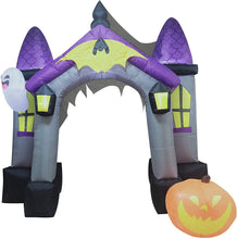 Load image into Gallery viewer, Jumbo Haunted House Archway Inflatable (9 ft)
