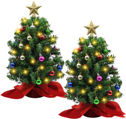 "20"" Tabletop Christmas Tree with Decoration Kit"