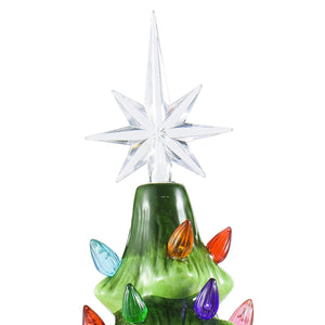"15"" Ceramic Christmas Tree with Decorations (Green)"