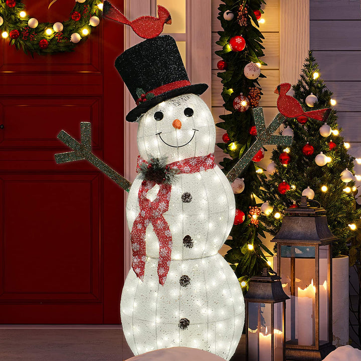 5ft Cotton Snowman LED Yard Light