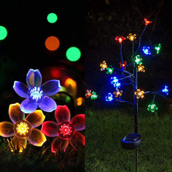2 Packs Cherry Blossom Multi-Color Stake Lights