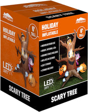 Load image into Gallery viewer, Large Scary Tree with Colorful Neon Light Mushrooms Inflatable (6 ft)
