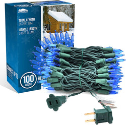100-count LED Christmas Lights, Blue