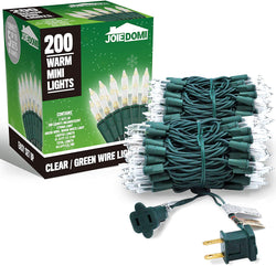 2 Set of 100-Count Clear Green Wire Christmas Light