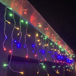 416 LED Icicle Lights, Multicolor