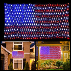 420 LED American Flag Net Lights, 2 Pack