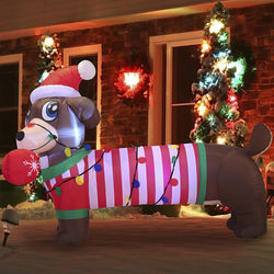 Large Christmas Puppy Inflatable (6 ft)