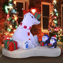Large Polar Bear Giveaway Gifts Inflatable (6 ft)