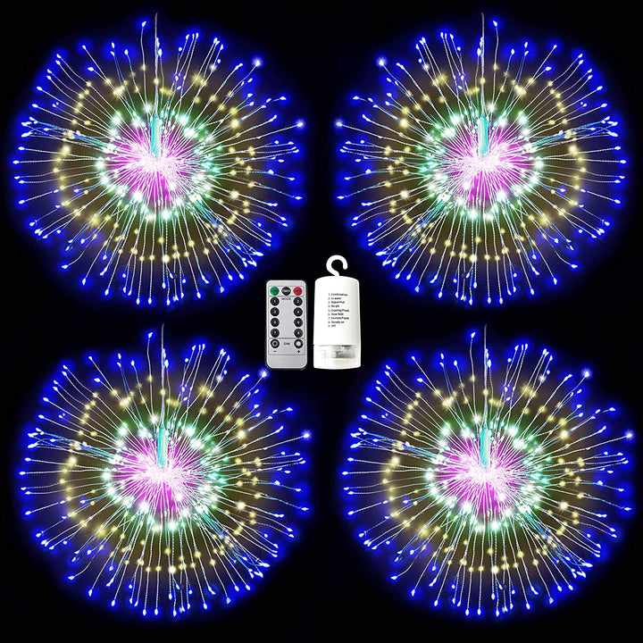 4 Pack of Firework Copper Wire Lights
