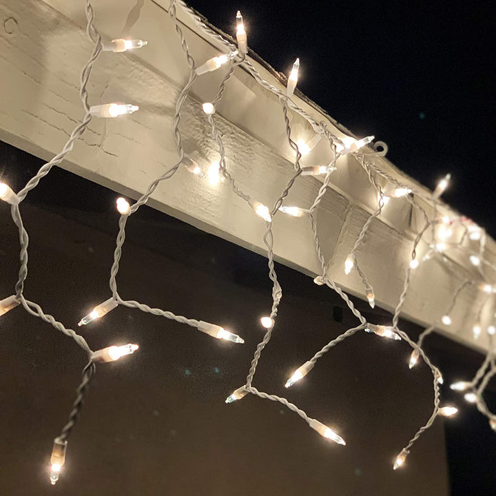 3 Packs, 150 Incandescent Icicle Lights, Warm White