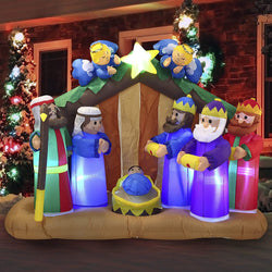 Large Nativity Scene with Angels Inflatable (6 ft)