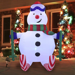 Large Sport Snowman Inflatable (6 ft)