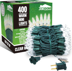 100 Counts Clear Green Wire Christmas Light Set of 4