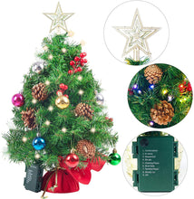 "Load image into Gallery viewer, 23"" Prelit Tabletop Christmas Tree with Color Changing LED Lights"