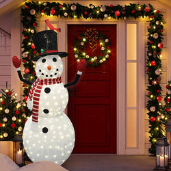 6ft Tinsel Collapsible Snowman LED Yard Light