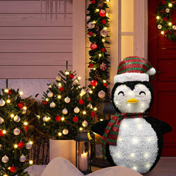 3ft Tinsel Collapsible Penguin LED Yard Light