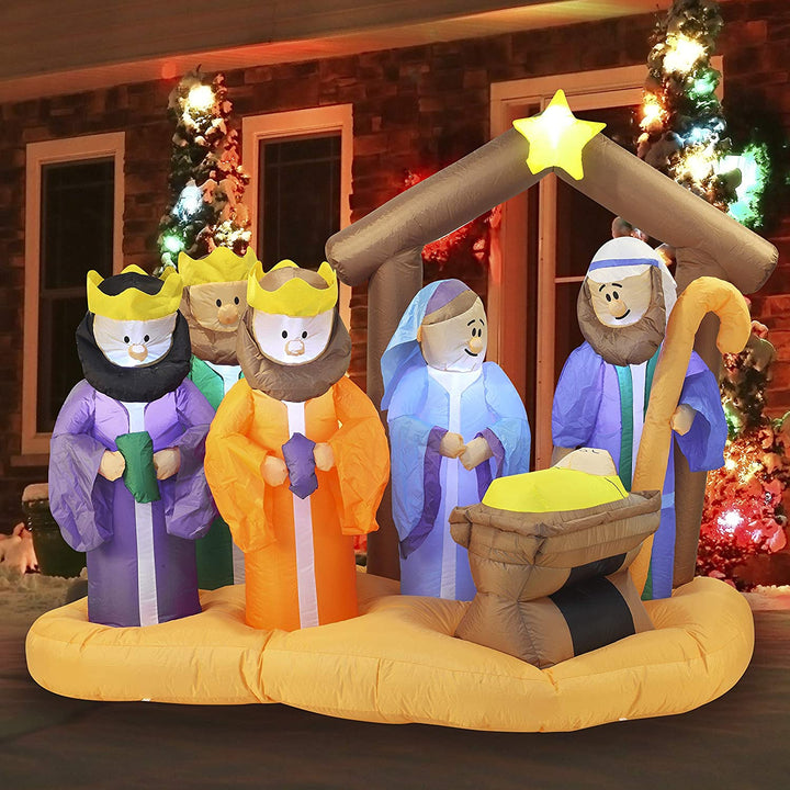 Large Christmas Scene Inflatable (7 ft)