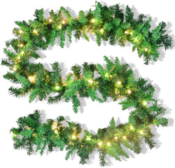 Artificial Christmas Garland Prelit