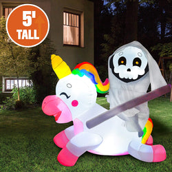 Tall Reaper Ride on Unicorn Inflatable (5 ft)