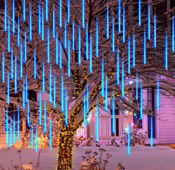 240 LEDs Christmas Falling Rain Drop Icicle String Lights