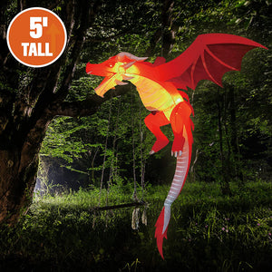 Tall Hanging Flying Dragon Inflatable (5 ft)