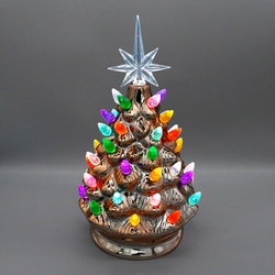 "9"" Gold Ceramic Christmas Tree"