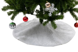 "36"" Soft Classic Faux Fur Christmas Tree Skirt"