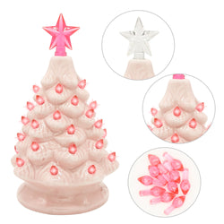 "7"" Ceramic Christmas Tree (Pink)"